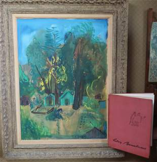 Ludwig Bemelmans Oil (Madeline) Painting Signed W/Book