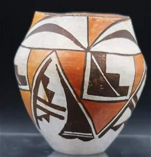 Vintage Acoma Pueblo Indian Pueblo Polychrome