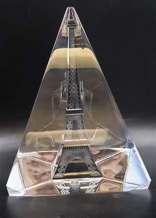 Baccarat Vintage Rarest Crystal Eiffel Tower 3-D Sculpt