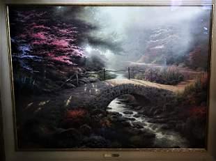 "by Thomas Kinkade ""Bridge of Faith"" Lithograph"