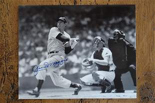 """Dimagggio Signed Framed Photo 8 X 10"""""""