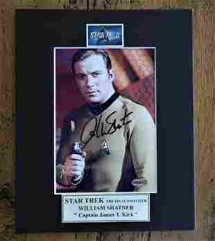 "Star Trek Signed Photo 8 X 10"" Matted"