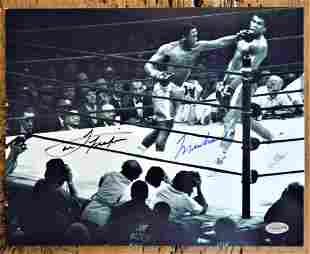 "Ali/Frazier Signed Photo 8 X 10"" Framed"
