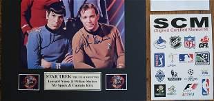 """Star Trek Signed Photo 8 X 10"""" Matted Framed"""