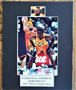 "Kobe Bryant Signed Photo 8 X 10"" Framed Matted"