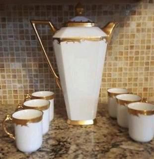 Limoges Antique Porcelain Chocolate Pot Set