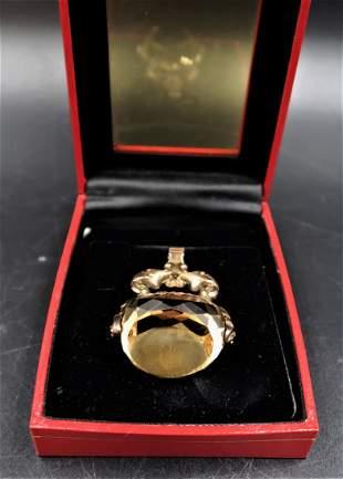 50Ct. Citrine Pendant & 14K Gold