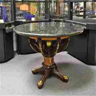 Marble Topped hand Carved Table