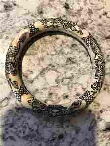 Chinese Carved Bovine Bangle Rare