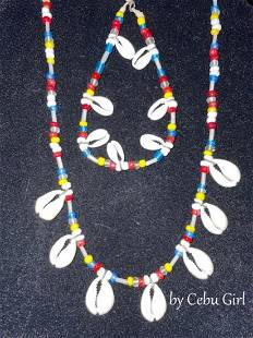 """Multi Color Beads w/ Cowrie Shell """"Unisex Style"""""""