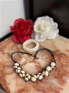Shell Bracelets & Macramé Japan Wax Beads Necklace