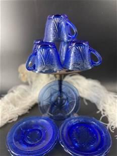 Cobalt Blue Royal Lace Tea or Coffee Cup & Saucer