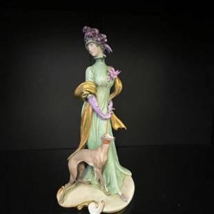 Porcelain Figurine Signed by Gelle