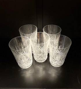 Crystal Water Glass 5pcs.