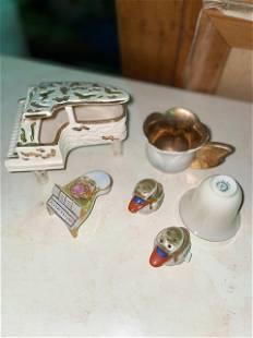 Vintage Miniature Deco. 6pcs.