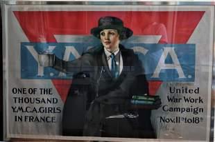 YMCA Girls in France WWI War Poster by Artist Neys