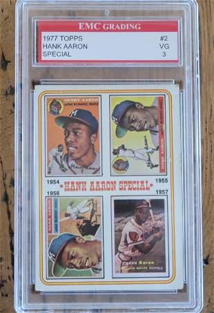 Hank Aaron Graded Card