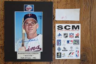 Killebrew Signed 8 X 10 Photo Matted