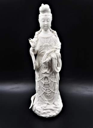 Oriental Porcelain Statue w/signed Pagets 33