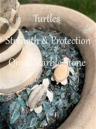 Strength & Protection Turtle Onyx/Marble Stone