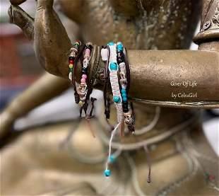 5pcs. Of Unisex Macrame Beach Bracelets