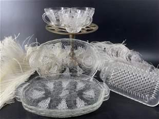 Antique 4 butter, 3 Cookies plates & 3 Tea Cups