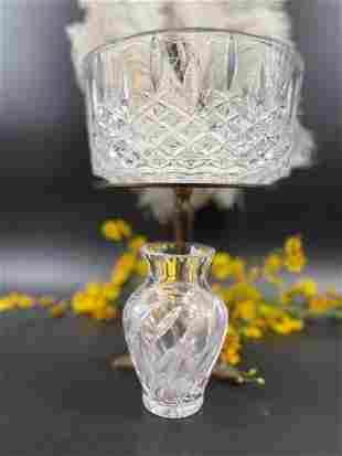 2pcs. Vintage Crystal Bowl & Crystal Jar