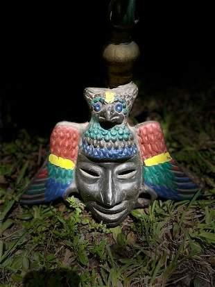 Handmade Mayan Mask Wall Art.