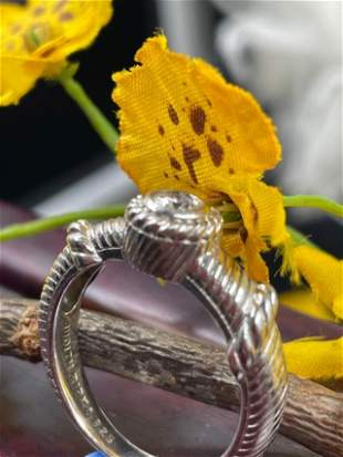 Judith Ripka 925 Sterling Silver Center Diamond