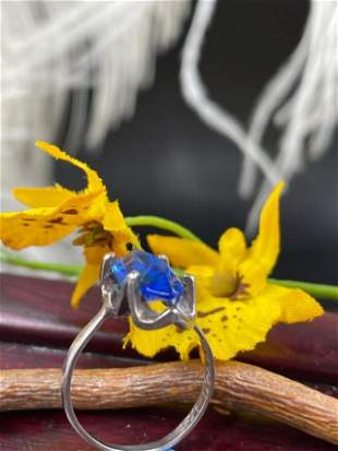 925 Handmade Sterling Silver Blue Sapphire