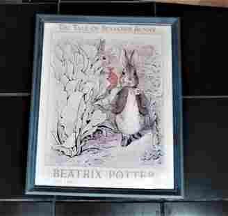 Beatrix Potter Tale of Benjamin Bunny Authorized Poster