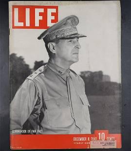 Vintage Life Magazine   December 8, 1941 Gen. MacArthur