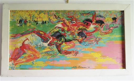 """""""Olympic Track '76 '"""" LeRoy Neiman CUSTOM FRAMED Art"""