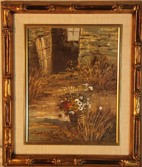 7: Framed oil painting on canvas, signed Chadwick.