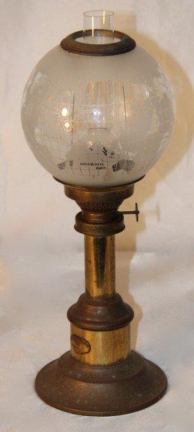 10: Harnisch Kerosene Lamp.  American, c. 1890