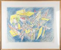91 Roberto Matta 19112002  Signed framed lithograp