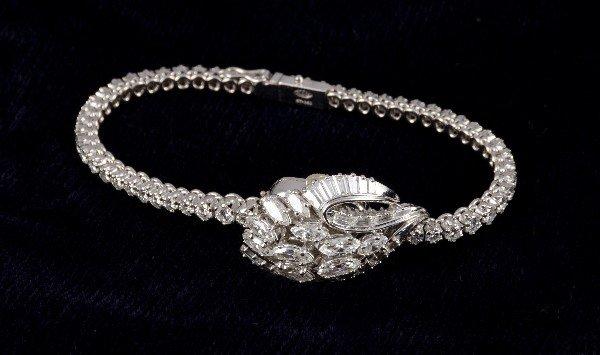 127: Antique Rolex Platinum and Diamond ladies watch.