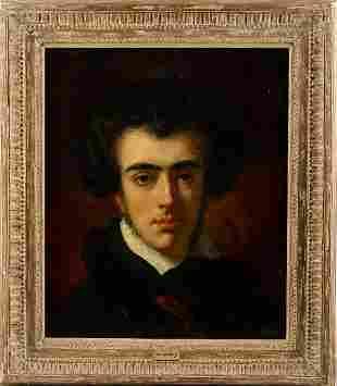 130: Eugene Delacroix (1798-1863). Oil Painting Canvas