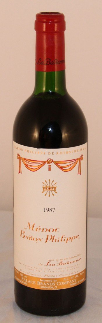 18: Collectors Wine, Medoc Baron Philippe 1987, France.