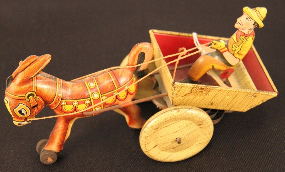 22: Antique TinToy, Horse and cart.