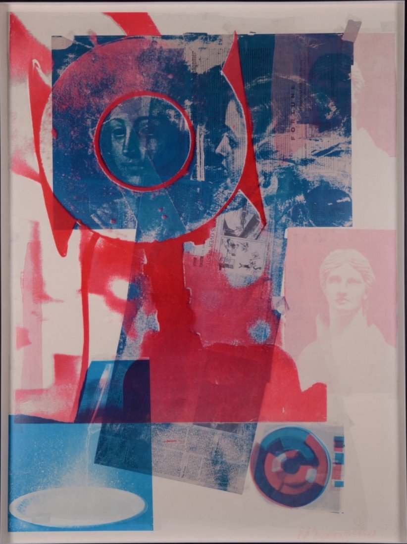 73: 85: Robert Rauschenberg (1925-2008) Signed and embo