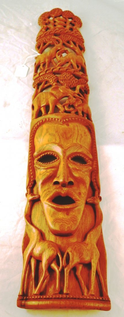 H14D_1: African Mask hand carved trible