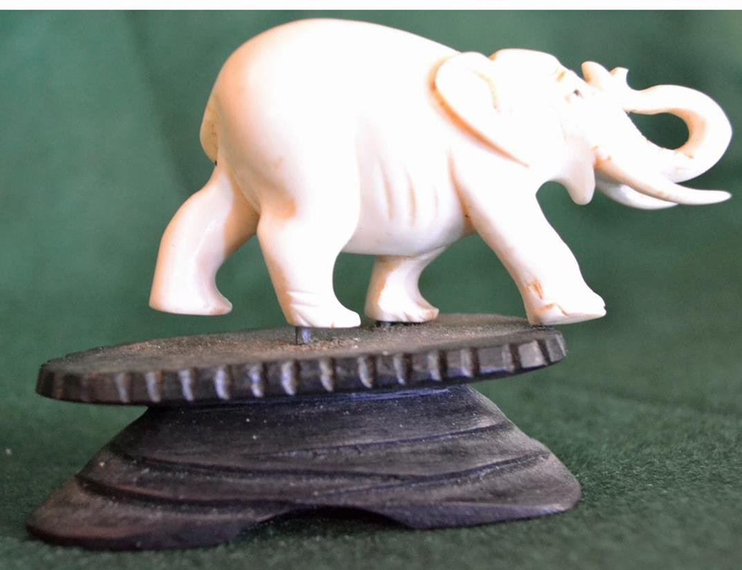 Elephant trunk up good luck piece  c.1885  FL only - 2