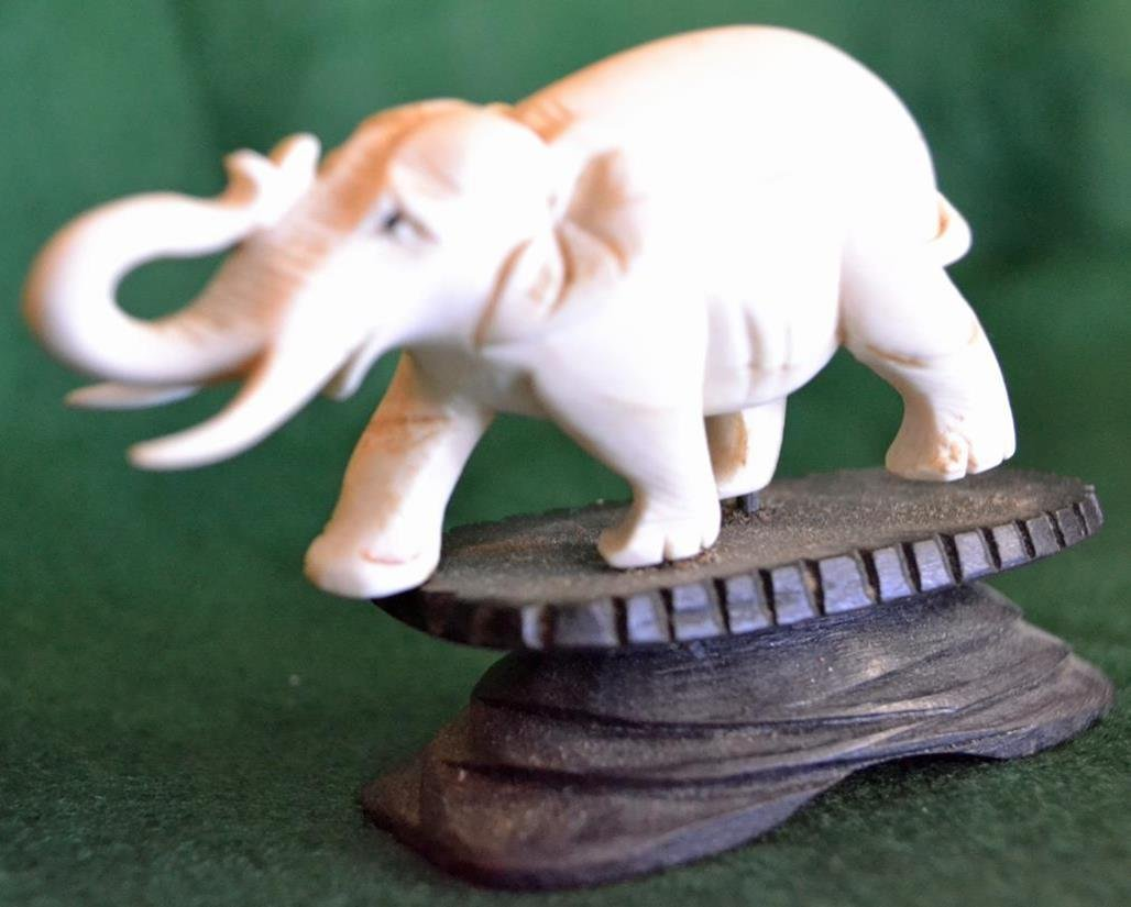 Elephant trunk up good luck piece  c.1885  FL only - 5