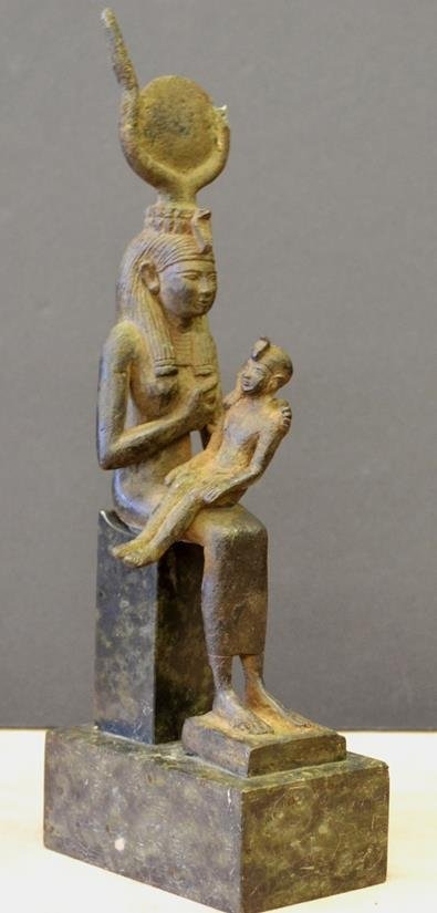 Egyptian Nefertiti bronze nursing pharo a genuine