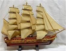 Antique sailing 3 mast scaled model French Large wood