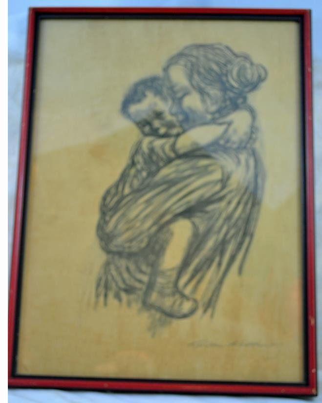 Kathe Kollwitz 1867-1945, signed,   Kathe Kollwitz