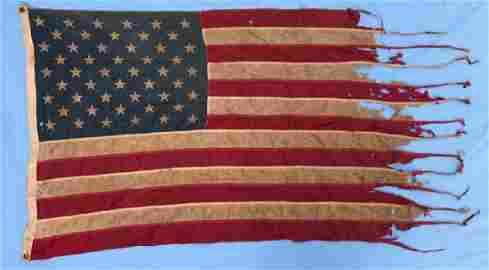 Daum Family USA War Torn Flag