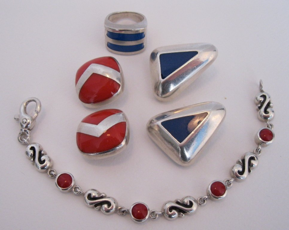 115: LOT OF 4 - Zina STERLING  925 Jewelry - 2.74 OZ