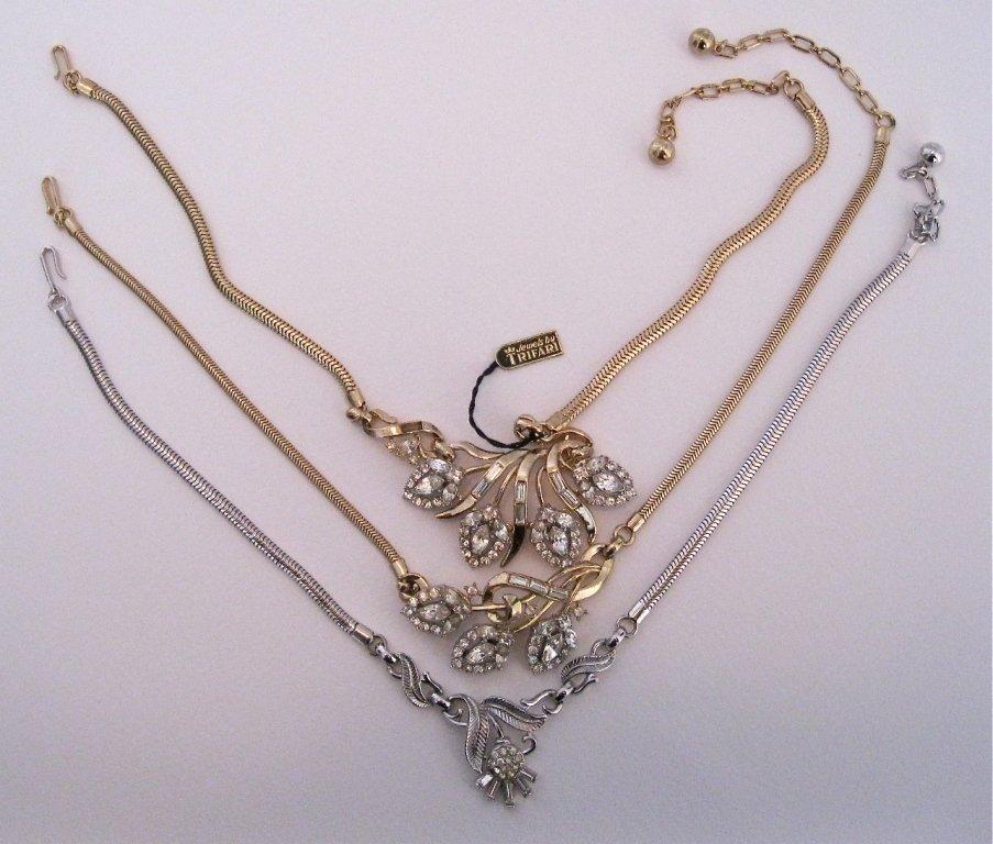 118: Lot of 3 Trifari Necklaces